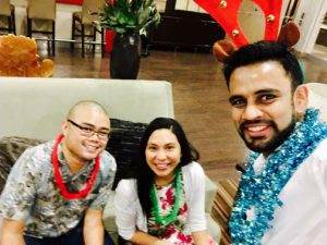 Photo 2016 Christmas Luau triangle physiotherapy