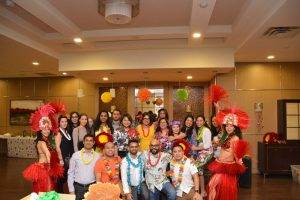 2016 Christmas Luau triangle physiotherapy