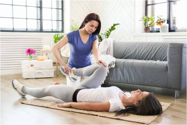 Physiotherapy exercise for women